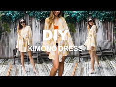DIY KIMONO DRESS/Bathrobe from scratch - Me-made summer collection - Ep 5 - YouTube