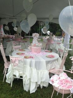 Pink and White shabby chic Baby Shower Party Ideas | Photo 10 of 35 | Catch My Party