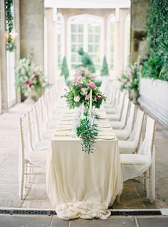 Elegant all-white tablescape: http://www.stylemepretty.com/2016/06/20/steal-the-look-morgan-stewarts-glam-all-white-wedding/