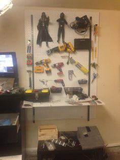 Peg Board Work Bench