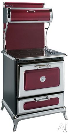 Heartland 30 Inch Freestanding Electric Range with cu. Electronic Convection Oven, 4 Radiant Elements, Temperature Sensors, 350 CFM Exhaust System and Self-Cleaning: Cranberry