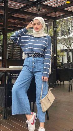 Casual Hijab Outfit, Ootd Hijab, Casual Outfits, Hijab Ideas, Modern Hijab Fashion, Indian Gowns Dresses, Muslim Hijab, Indie, Fashion Ideas