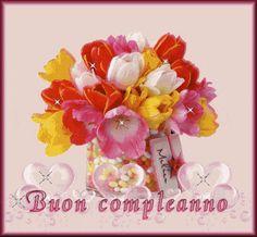 Buon Compleanno mazzo di fiori colorati