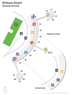 Brisbane airport map Maps Pinterest Brisbane Australia and City