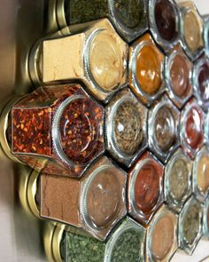 Large Custom Spice Rack For Wall: Set Of 12 Larger Spice Jars. Store On…