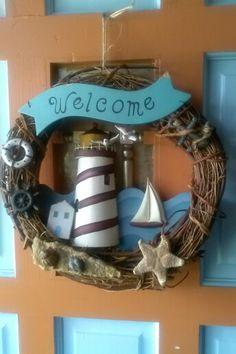 Welcome wreath for the front door.
