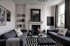 decoracion sofa negro - Buscar con Google