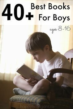 Great books for boys age 8-16. Help encourage reading this summer.