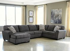 The Francene 3-piece sectional sofa features stylishly shaped set-back arms, along with supportive seat and back cushions that are beautifully adorned with piping. This sectional creates an inviting contemporary-styled look that will enhance your living room.
