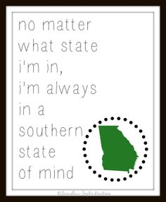 Southern State of MInd  / Georgia / Home Decor / by emilyhatch, $10.00