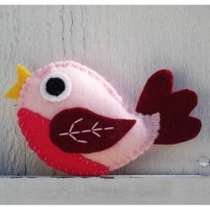 pink felt baby bird