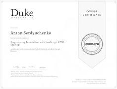 Coursera my coursera certificates pinterest certificate coursera duke coursera certificate programming javascript yadclub Images
