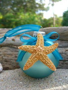 Starfish Coastal Ornament, Cottage Home Decor, Starfish Beach Weddings, Beach House, Hostess Gift, 2014 beach wedding starfish decor #wedding #starfish #decor www.loveitsomuch.com
