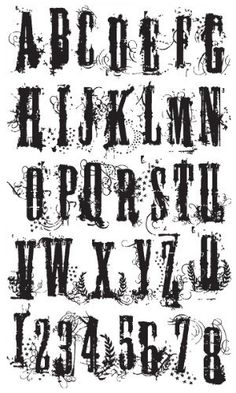 Tim Holtz Stampers Anonymous Grudge Alphabet CMS008