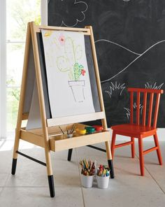Design Essentials for a Functional, Modern Playroom Modern Playroom, Playroom Design, Playroom Ideas, Ikea Playroom, Kids Art Easel, Art For Kids, Kindergarten, Vintage Industrial Decor, Art Corner