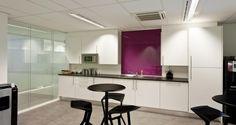 Cafeteria into the premises of Stanley B&D in Diegem, Belgium