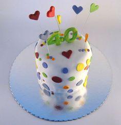 Visoka torta sa tufnicama i srcima Projects To Try, Cake, Desserts, Food, Pie Cake, Meal, Cakes, Deserts, Essen