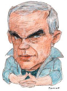 Milan Kundera Caricature, Milan, Novels, New York, Gallery, Illustration, Artist, Books, Portraits