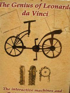 Leonardo da Vinci Inventing even the bicycle before its time!
