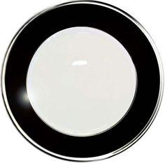 Haviland Laque de Chine Platinum/Noir Dinnerware   Gracious Style