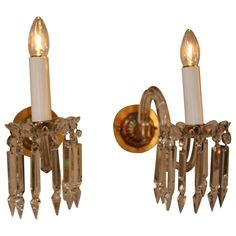 Pair of 19th Century Crystal Wall Sconces - LU91362747762