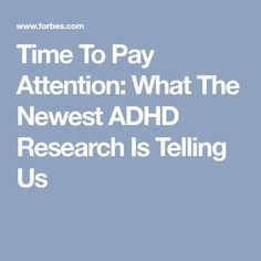 Time To Pay Attention: What The Newest ADHD Research Is Telling Us Adhd Odd, Adhd And Autism, Coral Gables, What Is Adhd, Adhd Signs, Adhd Strategies, Instructional Strategies, Adhd Brain, Adhd Help