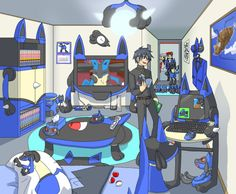 constantly surrounded by lucario like. lucario bedsheets lucario pillow covers lucario plushies and figures if there was a lucario wii u you'd have that too a lucario lamp a lucario desk. lucario everything. N Pokemon, Lucario Pokemon, Mega Lucario, Play Pokemon, Pokemon Funny, Cool Pokemon, Pokemon Stuff, Best Pokemon Ever, Nerd Geek