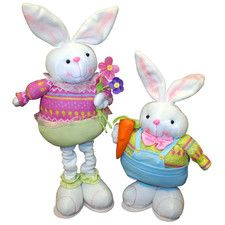 2 Piece Standing Bunny Set