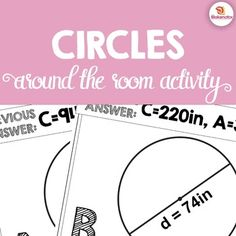 Get your students up and moving as they practice calculating area and circumference of circles.This is an Around the Room Activity that requires students to use knowledge of circles to calculate the area and circumference, given a radius or diameter. Students are able to guide their own progress as they make their way around the room, able to check their own work without the teacher.