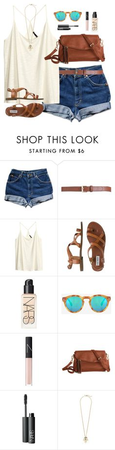 concert last night by classically-preppy on Polyvore featuring mode, H&M, Steve Madden, J.Crew, Illesteva, Maison Boinet and NARS Cosmetics