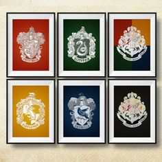 Harry Potter Print Hogwarts Crest Print Harry by PrintsForKids