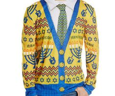 Bring killer style back to the high holidays by strutting around in this ugly Hanukkah sweater. This long sleeve shirt comes with a holiday ...