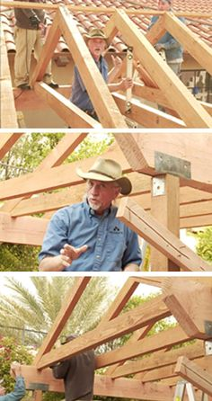Learn how to build your very own Ramada and stay cool in the shade in your backyard. Landscape Architect, Pete Curé gives you design tips and shows how to build your own ramada this video from Step Outside.