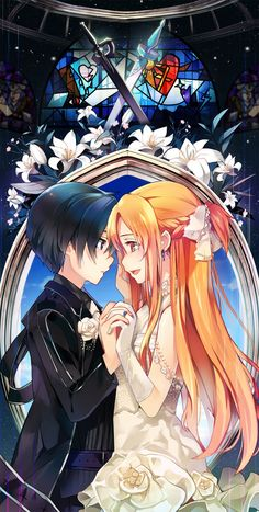 I love how they are married and Kirito still looks at Asuna like the most beautiful thing he has ever seen. He loves her more than anything!