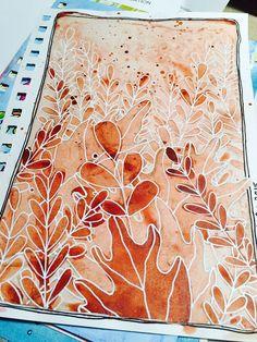 Tonal Study art journal page using DecoArt ® Media Fluid Acrylics by Catherine Scanlon.