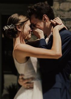 "First look is when a couple sees each other before the wedding ceremony, most brides and grooms choose to do a ""First Look"" as. aesthetic First Look Wedding Photos – These 72 Adorable Photos Are So Touching Wedding Goals, Wedding Couples, Wedding Pictures, Cute Couples, Dream Wedding, Wedding Day, Wedding Ceremony, Marriage Pictures, Wedding First Look"
