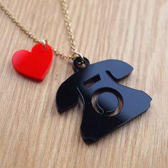 Acrylic Telephone Necklace