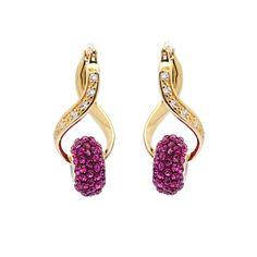 Royal Fuchsia Infinity Earrings Vegas Collection