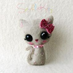 Hi! Do you like teeny tiny cute things? If so, I've created a wonderful little tutorial specially for you! These super sweet Sparkle Kitt...