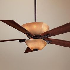 """54"""" Lineage Collection Iron Oxide Finish Ceiling Fan"""