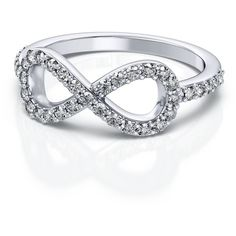 Show her how you feel with this white gold infinity diamond ring. This classy ring contains thirty nine tw.) VS G-H stunning round shape prong set diamonds. White Gold Jewelry, White Gold Rings, White Gold Diamonds, Diamond Jewelry, Jewelry Rings, Gold Jewellery, Rose Gold, Jewlery, Jewelry Accessories