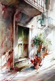 Let's paint together in Spain ? Vamos pintar juntos na Espanha?, painting by artist Fabio Cembranelli