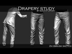 Glauco Longhi - Drapery Study in zbrush