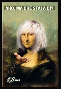 Real Mona Lisa, Mona Lisa Smile, Monnalisa Kids, Mona Lisa Images, Mona Lisa Parody, Funny Caricatures, Renaissance Artists, Many Faces, Italian Artist