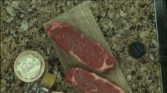 Grilled Strip Steaks with Classic Herbed Steak Butter