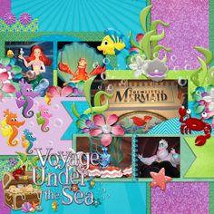 Kit: Under the Sea (Mad for the Mouse Designs) Template: Little Green Frog Designs