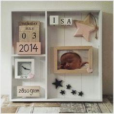 Geboortebord van onze Isa! #action aangepast naar eigen smaak. #diy