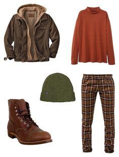 """""""herfst type"""" by juliadeuveren on Polyvore featuring Berwich, MANGO, Red Wing, men's fashion en menswear"""