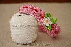 Gehäkeltes Haarband für Babys und Kinder