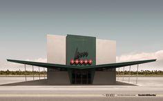 "midcenturymodernfreak:  ""The New World Series I &II"" | Anonymous Places of the 20th Century  Design: Robert G. Achtel & Jens Bambauer of Geebird&Bamby | Limited editions of 100 per piece, PLEXIGLAS sealed Kodak exposures, laminated on DIBOND"